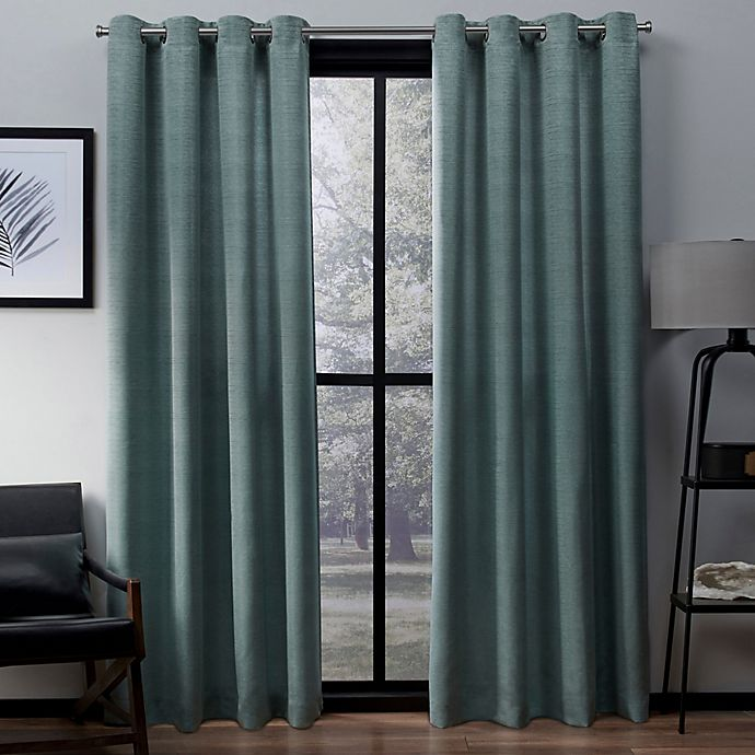 Alternate image 1 for Exclusive Home Virenze 108-Inch Grommet Window Curtain Panel Pair in Marine