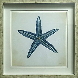 Embroidered Starfish Double Framed Wall Art