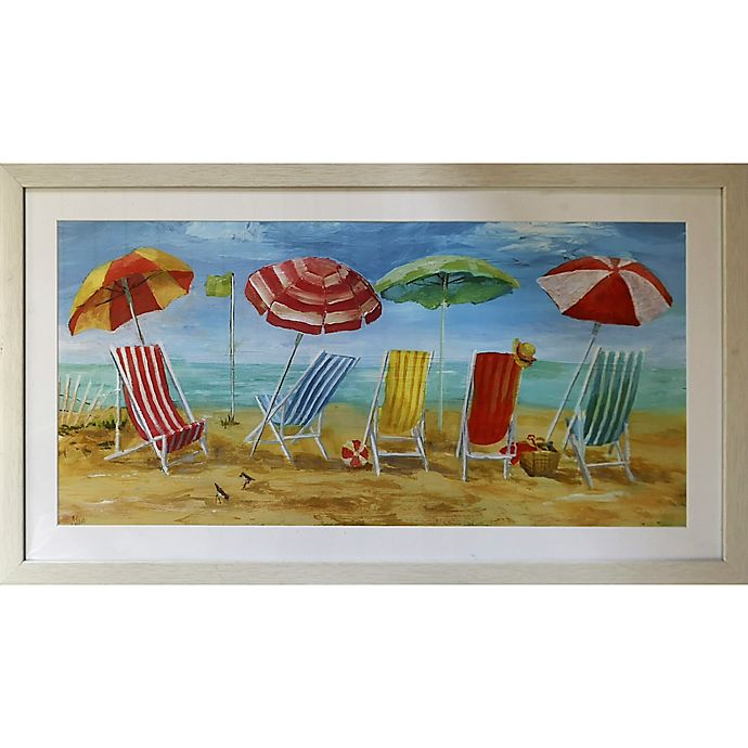 Beach Chairs Framed Wall Art