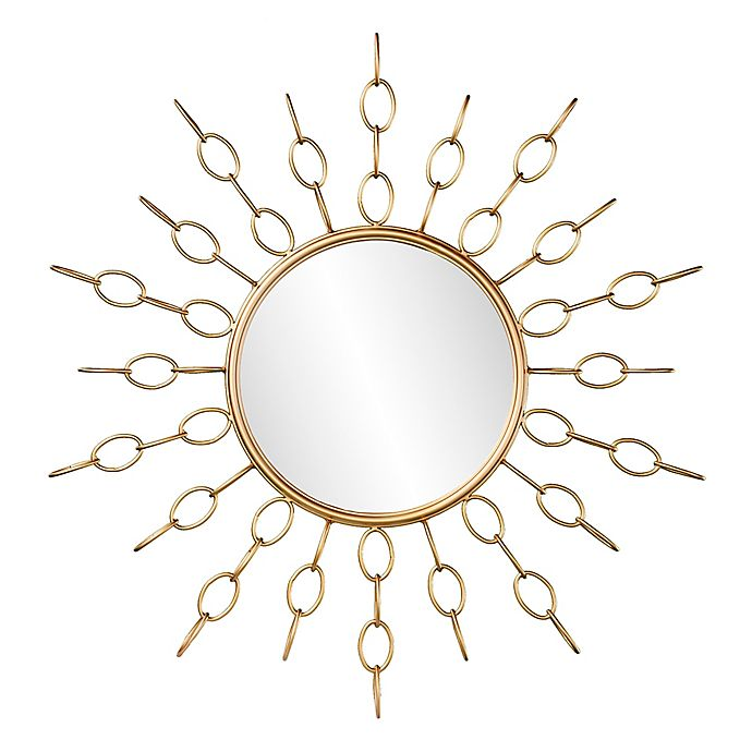 Alternate image 1 for Southern Enterprises 34-Inch Salix Starburst Wall Mirror in Gold