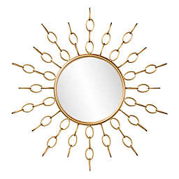 Southern Enterprises 34-Inch Salix Starburst Wall Mirror in Gold