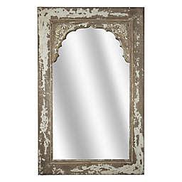Rustic Shabby Chic Wood 32.25-Inch x 20.5-Inch Wall Mirror