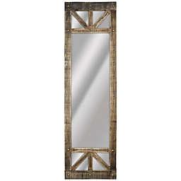 Crystal Art Rustic Full Length Standing/Wall Mirror in Brown