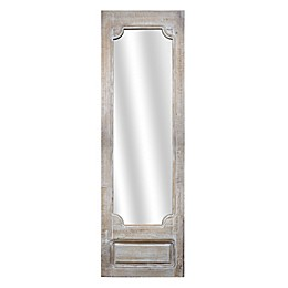Crystal Art White Washed Full Length Standing/Wall Mirror in Brown