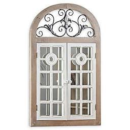 34.25-Inch x 21.25-Inch Cathedral Arch Window Shutter Mirror