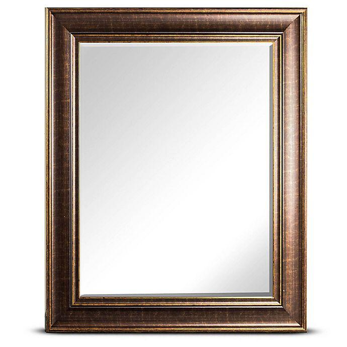 Alternate image 1 for Bentley 25-Inch x 21-Inch Rectangular Wall Mirror in Bronze