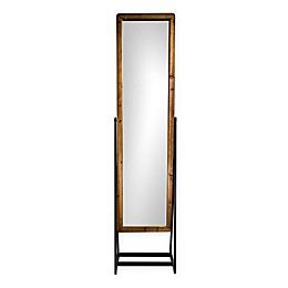 Masterpiece Art Gallery 69-Inch x 17-Inch Rectangular Rustic Cheval Style Standing Mirror in Brown