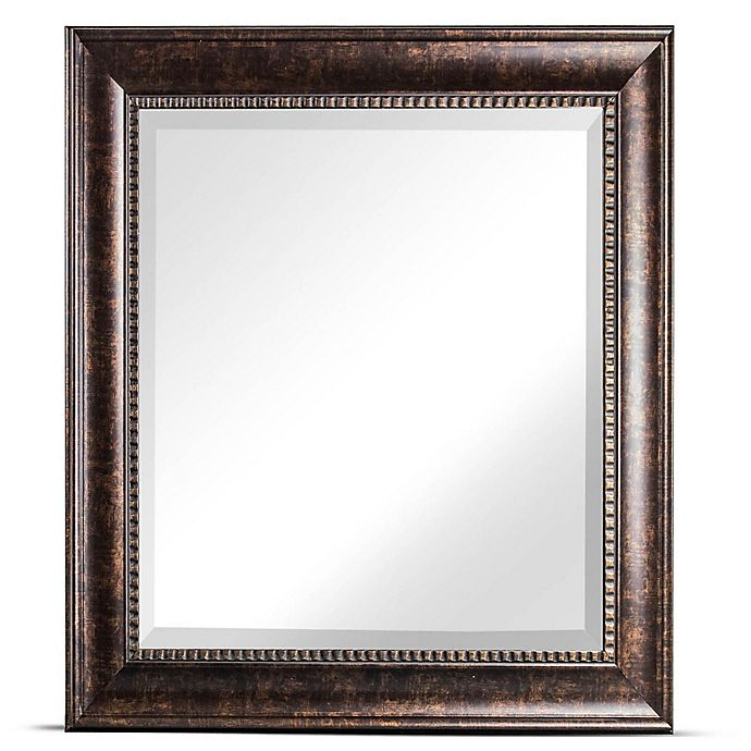 Alternate image 1 for Crystal Art Hartley Square Wall Mirror in Bronze