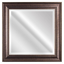 Bentley 23-Inch Square Wall Mirror in Bronze