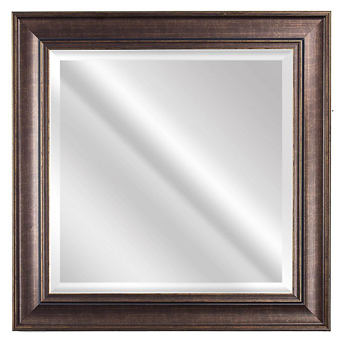 Alternate image 1 for Bentley 23-Inch Square Wall Mirror in Bronze