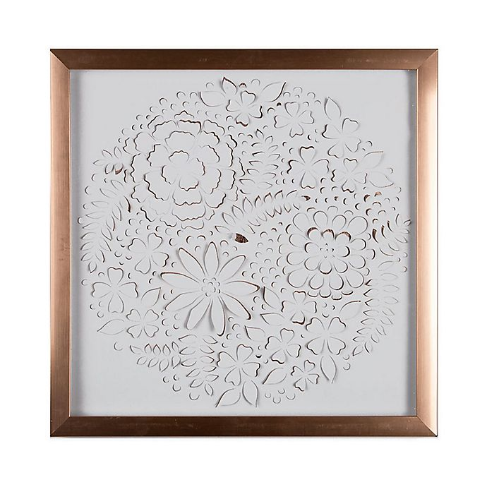 Alternate image 1 for Graham & Brown Flowers 16-Inch Square Acrylic Framed Print in White