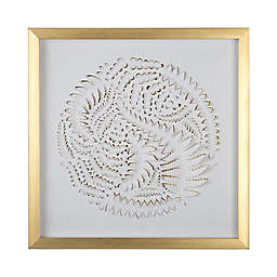 Graham & Brown Leaves 16-Inch Square Acrylic Framed Print in White