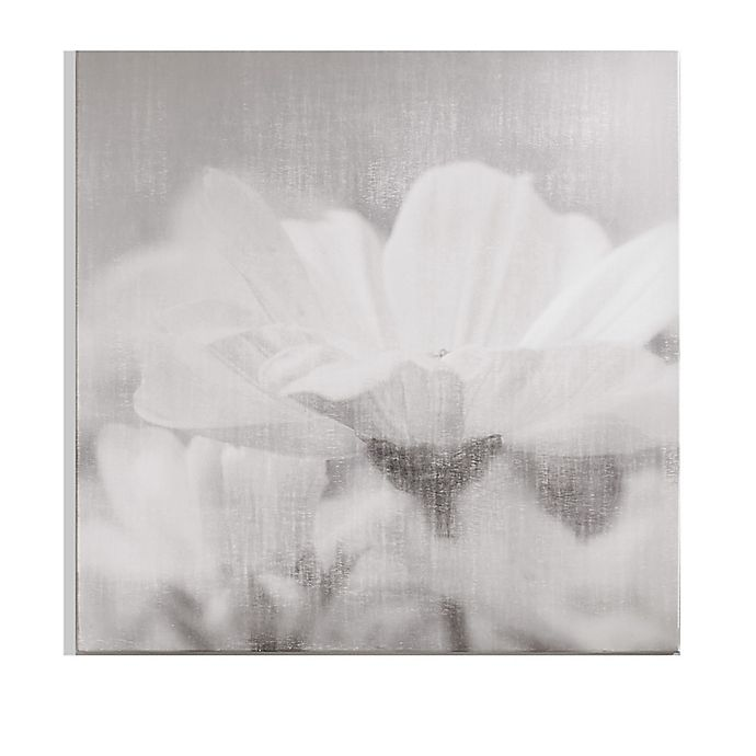 Alternate image 1 for Graham & Brown Flower 28-Inch x 28-Inch Framed Wrapped Canvas in Grey