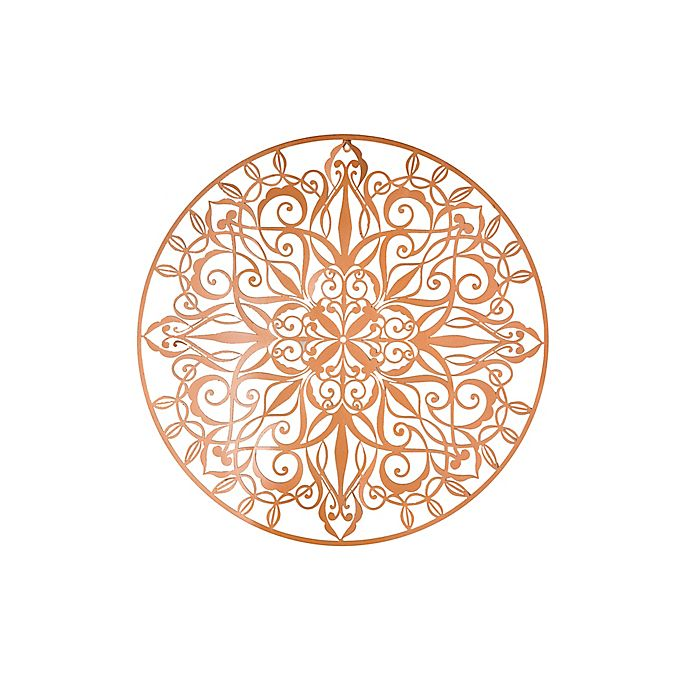 Alternate image 1 for Graham & Brown Mandala 31.49-Inch x 31.49-Inch Metal Art in Metallic