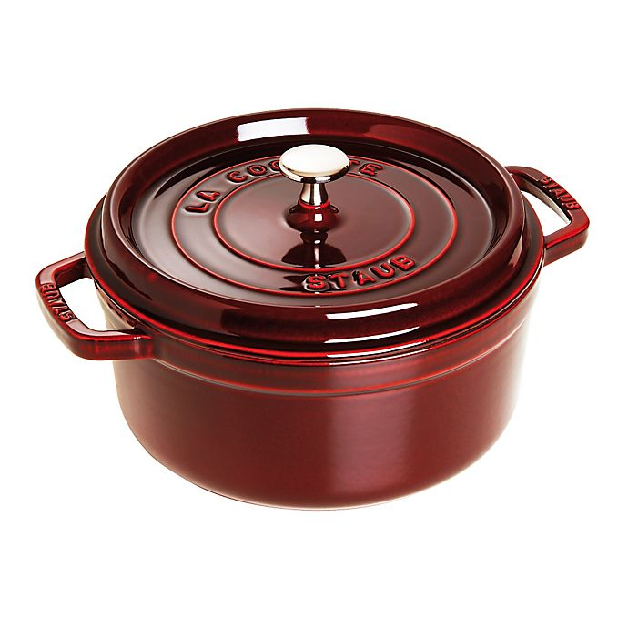 Alternate image 1 for Staub 4 qt. Round French Cocotte in Turquoise