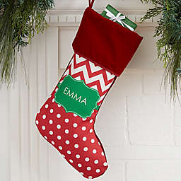 Preppy Chic Personalized Christmas Stocking