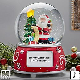 Santa Claus Personalized Musical & Light Up Snow Globe