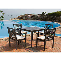 Safavieh Del Mar 5-Piece Patio Dining Set