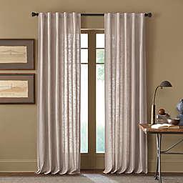 Cambria® Malta 95-Inch Rod Pocket/Back Tab Window Curtain Panel in Linen