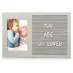 Pearhead® Letterboard Picture Frame in Distressed Gray