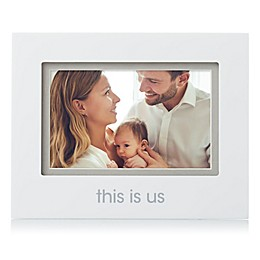 "Pearhead® 4-Inch x 6-Inch ""This Is Us"" Sentiment Picture Frame in White"