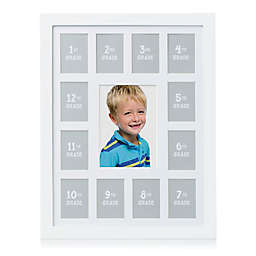 Pearhead® 13-Photo K-12 School Years Wall Frame in White
