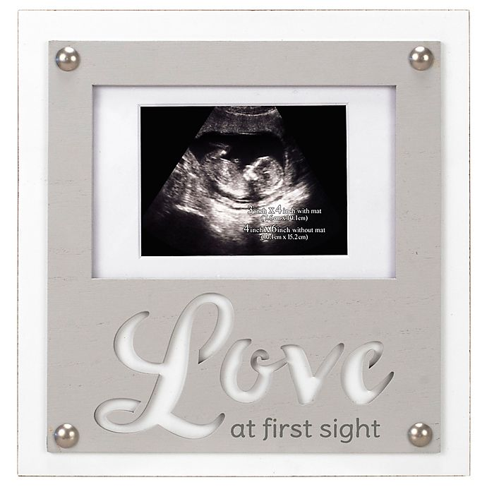 Alternate image 1 for Maiden Love First Sight Sonogram Photo Frame in Grey