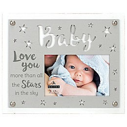 Maiden Love Stars Baby 4-Inch x 6-Inch Photo Frame in Grey
