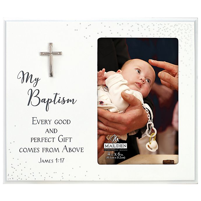 Alternate image 1 for Maiden Baptism 4-Inch x 6-Inch Photo Frame in White