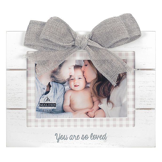 Alternate image 1 for Maiden So Loved 4-Inch x 6-Inch Photo Frame in White
