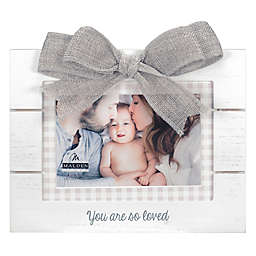 Maiden So Loved 4-Inch x 6-Inch Photo Frame in White