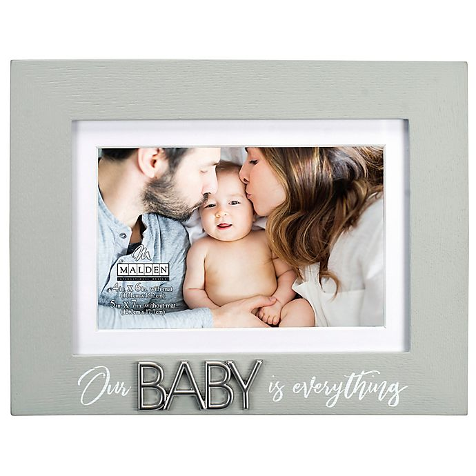 Alternate image 1 for Maiden Baby Everything 4-Inch x 6-Inch Photo Frame in Grey