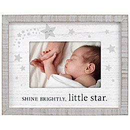 Maiden Shine Bright Silkscreened 4-Inch x 6-Inch Photo Frame in Brown