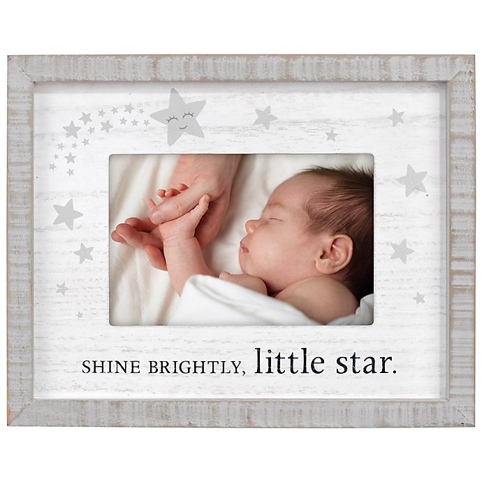 Alternate image 1 for Maiden Shine Bright Silkscreened 4-Inch x 6-Inch Photo Frame in Brown