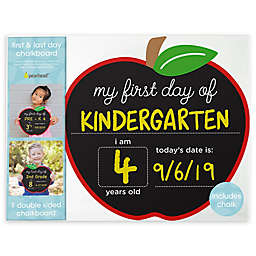 Pearhead® First and Last Day of School Double-Sided Reusable Apple Chalkboard Frame
