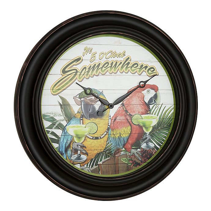 Alternate image 1 for Margaritaville Its 5 O'Clock Somewhere 26-Inch Wall Clock