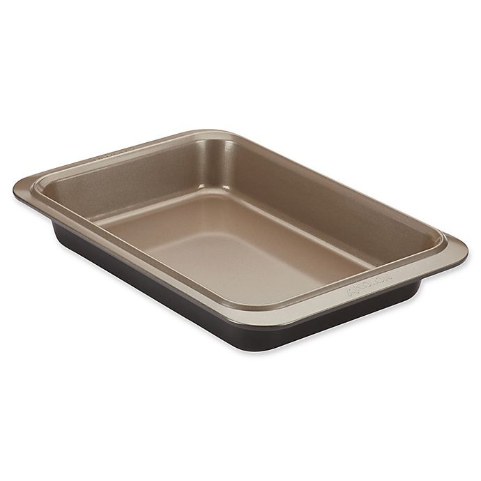 Alternate image 1 for Anolon® Eminence™ Non-Stick 9-Inch x 13-Inch Rectangular Cake Pan in Onyx