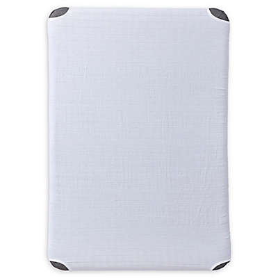 HALO™ DreamNest™ Fitted Cotton Muslin Sheet in White