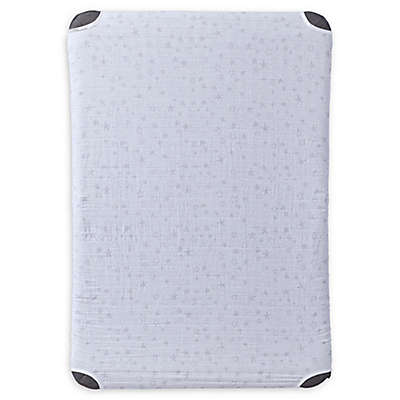 HALO™ DreamNest™ Fitted Cotton Muslin Sheet in Star Print