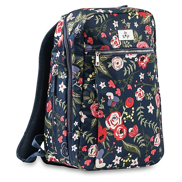 Alternate image 1 for Ju-Ju-Be® Ballad Diaper Backpack in Midnight Posy