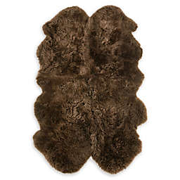 Fibre by Auskin Sheepskin 4' X 6' Area Rug in Morchella