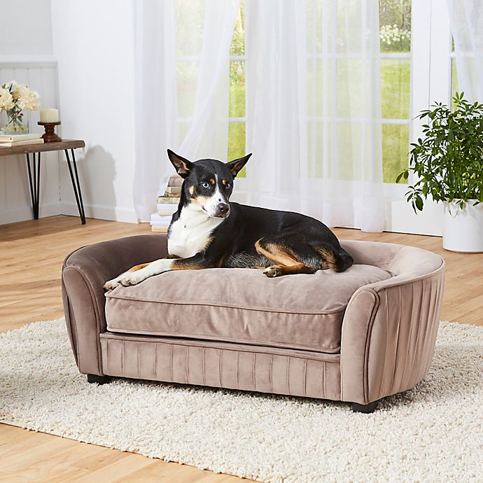 Enchanted Home Pet® Tucker Large Pet Sofa in Mushroom | Bed ...