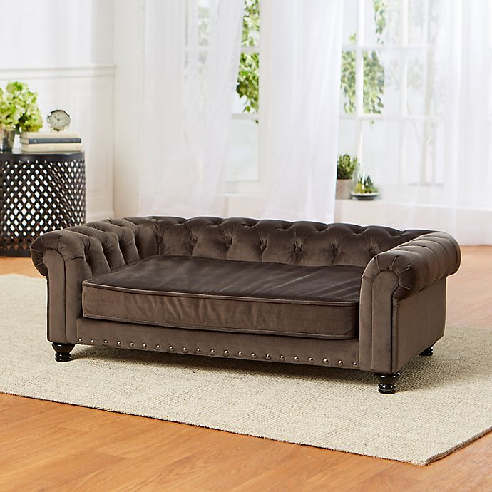 Alternate image 1 for Enchanted Home Pet® Wentworth Large Pet Sofa in Charcoal Grey