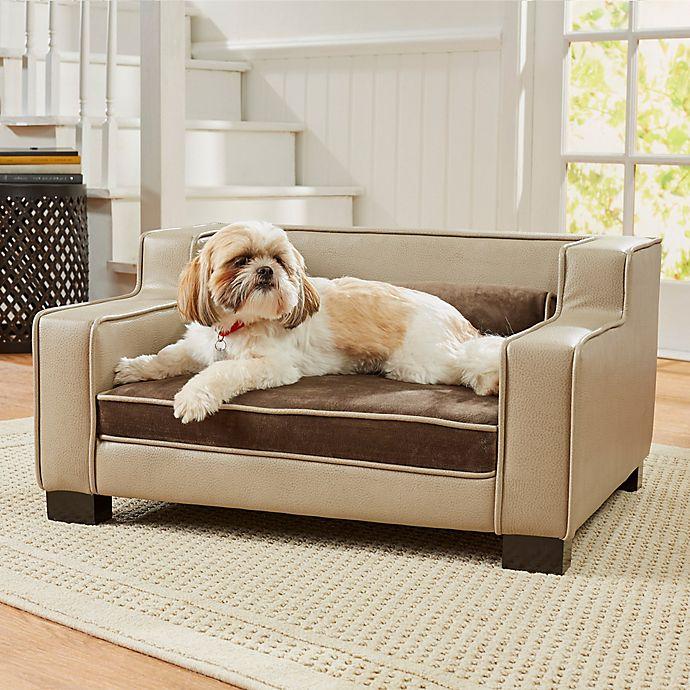 Alternate image 1 for Enchanted Home Pet® Lincoln Medium Pet Sofa in Beige