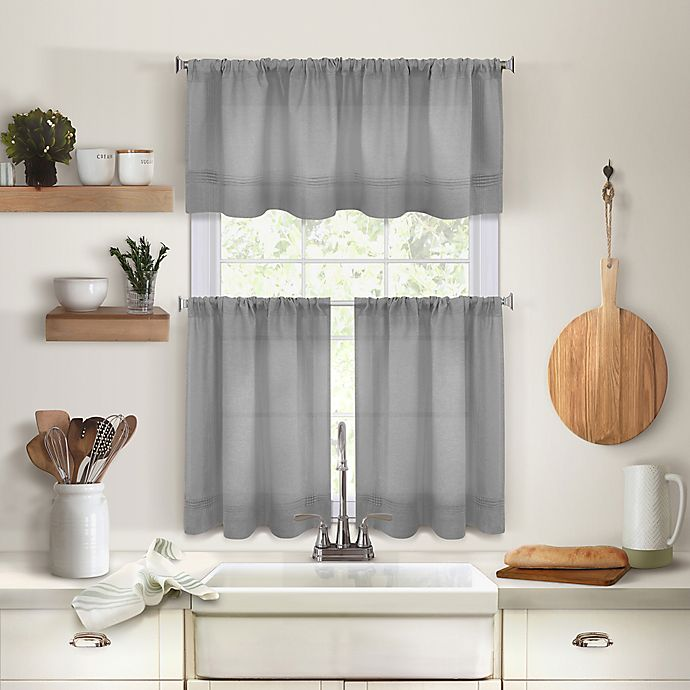 Alternate image 1 for Maison Kitchen Window Curtain Tiers and Valance