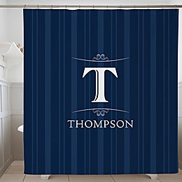 Elegant Monogram Personalized Shower Curtain