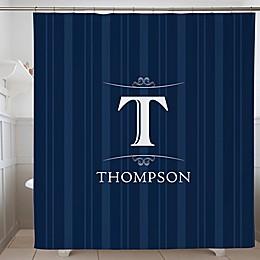 Elegant Monogram Personalized Shower Curtain