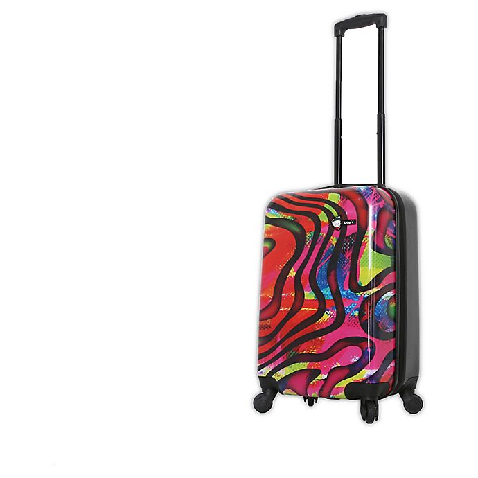 Alternate image 1 for Mia Toro ITALY Duaiv Zebra 20-Inch Hardside Spinner Carry On Luggage