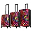 Part of the Mia Toro ITALY Duaiv Zebra Hardside Spinner Luggage Collection