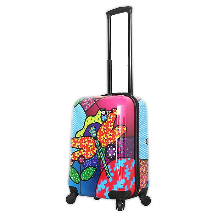 Alternate image 1 for Mia Toro ITALY Allegra Pop Dragonfly 20-Inch Hardside Spinner Carry On Luggage